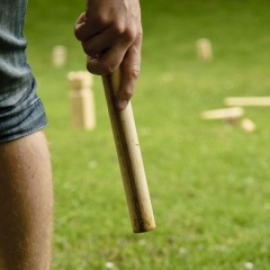 Kubb, an outdoor game